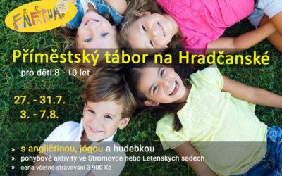 27.-31.7. a 3.-7.8. Příměstský tábor pro děti 8-10 let