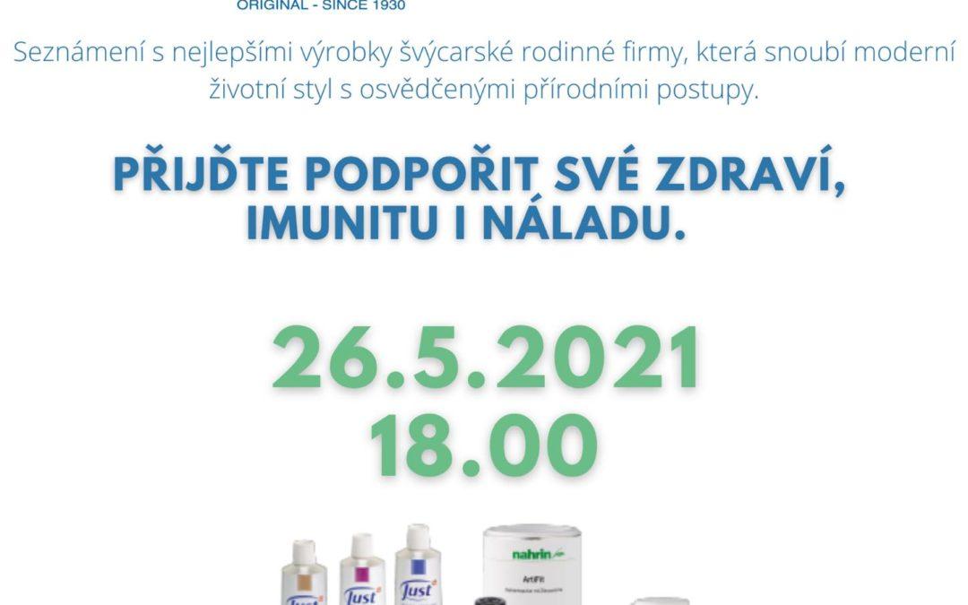 """26. 5. od 18:00-19:30 Léčení s bylinnými produkty značky JUST – """"Perly"""""""